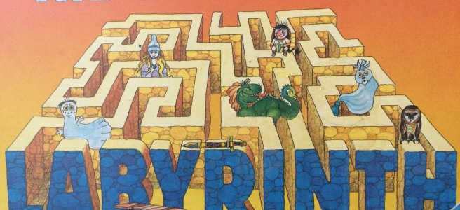 A photo of The aMAZEing Labyrinth board game, now called Labyrinth