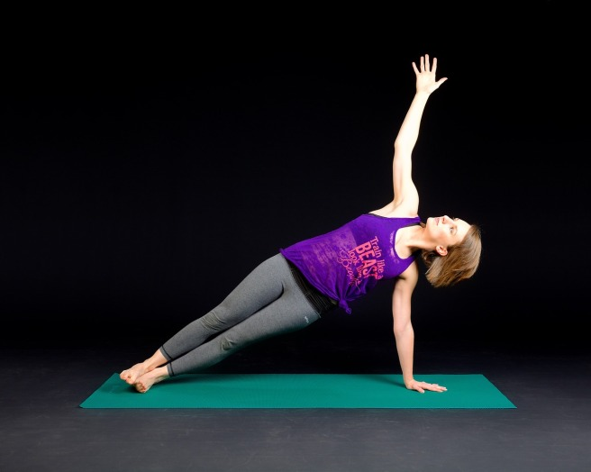 A picture of side plank position